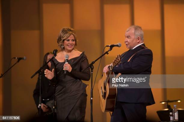 Renee Fleming and John Prine perform at the Chicago Voices Concert at the Lyric Opera House in Chicago Illinois February 4 2017