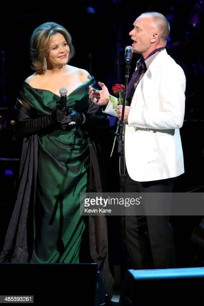 Renee Fleming and Sting performs on stage at The 2014 Revlon Concert For The Rainforest Fund at Carnegie Hall on April 17 2014 in New York City