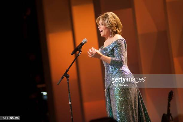 Renee Fleming performs at the Chicago Voices Concert at the Lyric Opera House in Chicago Illinois February 4 2017