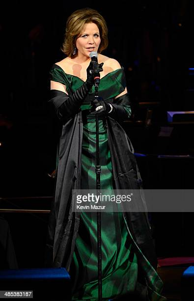 Renee Fleming performs onstage during The 2014 Revlon Concert For The Rainforest Fund at Carnegie Hall on April 17 2014 in New York City
