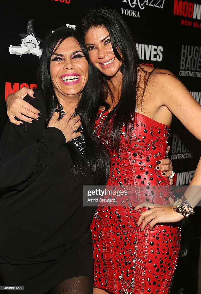 Renee Graziano and Alicia DiMichele Garofalo attend 'Mob Wives' Season 4 premiere at Greenhouse on December 5 2013 in New York City