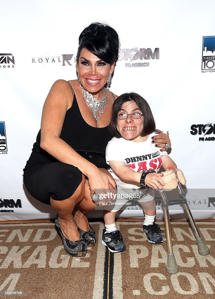Renee Graziano and Guest attend Renee Graziano's Celebrity dinner party at Midtown 1015 on July 10, 2013 in New York City.