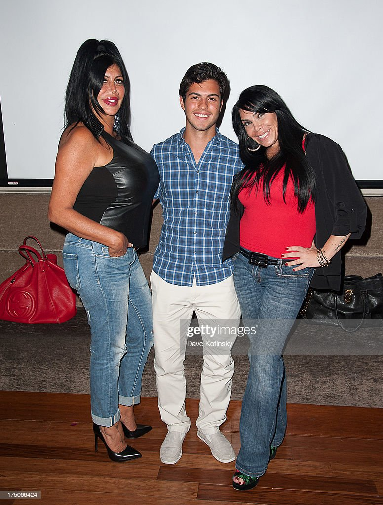 <a gi-track='captionPersonalityLinkClicked' href=/galleries/search?phrase=Renee+Graziano&family=editorial&specificpeople=7643222 ng-click='$event.stopPropagation()'>Renee Graziano</a>, David Castro and Angela 'Big Ang' Raiola attends Dinner And A Movie at KTCHN Restaurant on July 30, 2013 in New York City.