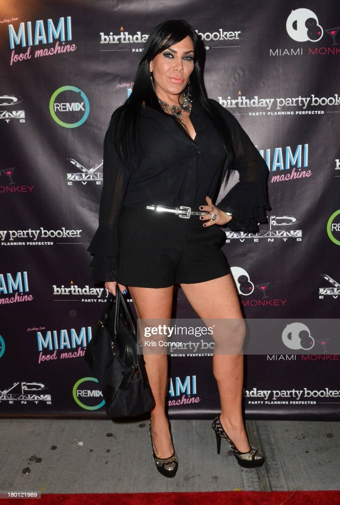 <a gi-track='captionPersonalityLinkClicked' href=/galleries/search?phrase=Renee+Graziano&family=editorial&specificpeople=7643222 ng-click='$event.stopPropagation()'>Renee Graziano</a> poses for photos during the 'Miaimi Monkey' New Screening at 49 Grove on September 8, 2013 in New York City.
