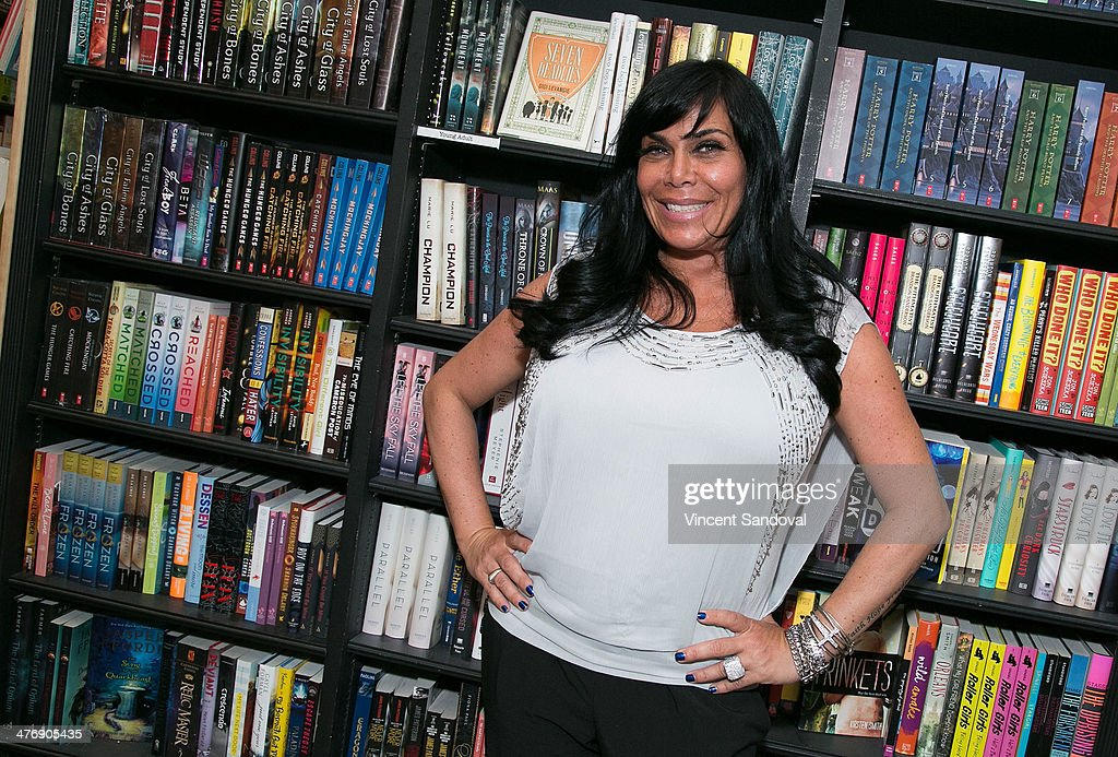 Renee Graziano signs copies of her new book 'How To Use A Meat Cleaver' at Book Soup on March 5 2014 in West Hollywood California