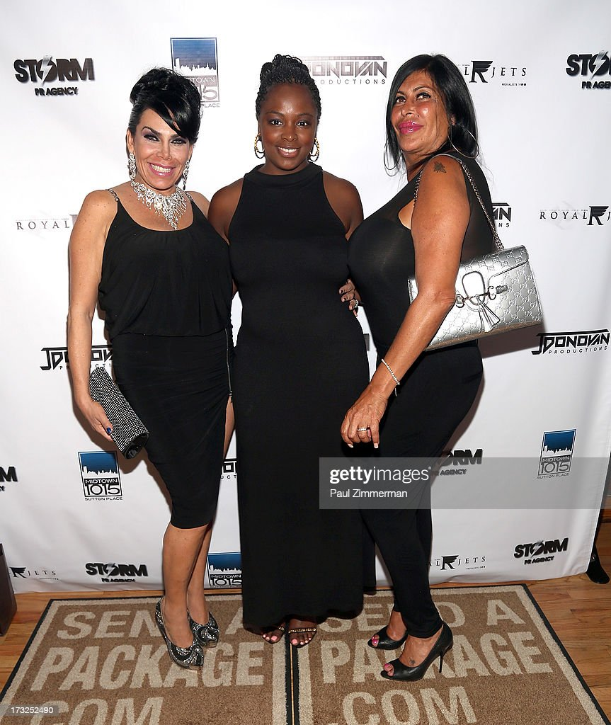 Renee Graziano, Tiffany Bowen and Angela 'Big Ang' Raiola attend Renee Graziano's Celebrity Dinner Party at Midtown 1015 on July 10, 2013 in New York City.