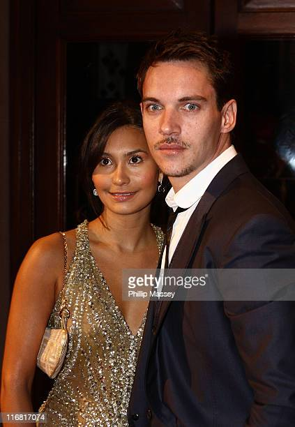 Renee Hammer and Jonathan Rhys Meyers arrive for the Irish Film Television Awards at Gaiety Theatre on February 17 2008 in Dublin Ireland