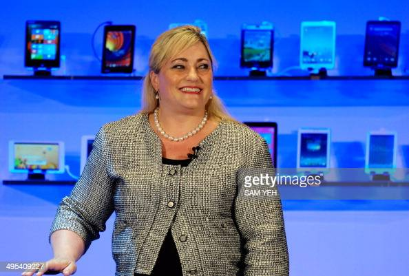 Renee J James president of Intel speaks during the Computex tech show in Taipei on June 3 2014 More than 1500 exhibitors including some of the...