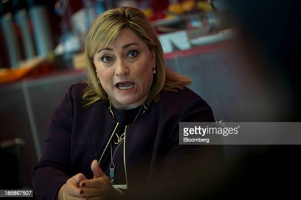 Renee James president of Intel Corp speaks during an interview in New York US on Friday Oct 25 2013 Intel Corp's failure to break into the...