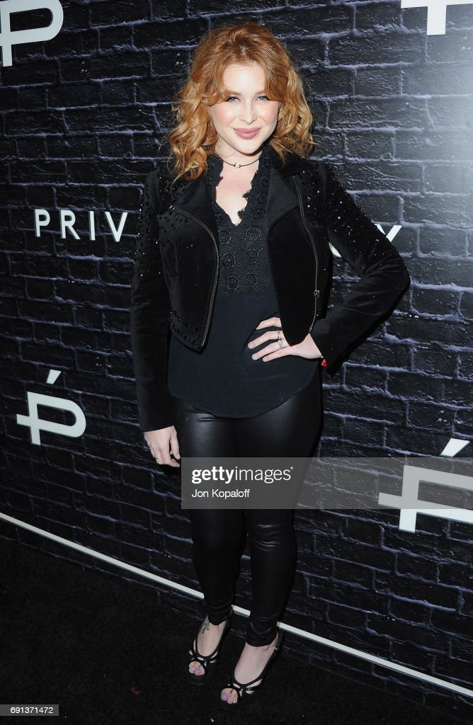 Renee Olstead arrives at Prive Revaux Launch Event at Chateau Marmont on June 1, 2017 in Los Angeles, California.