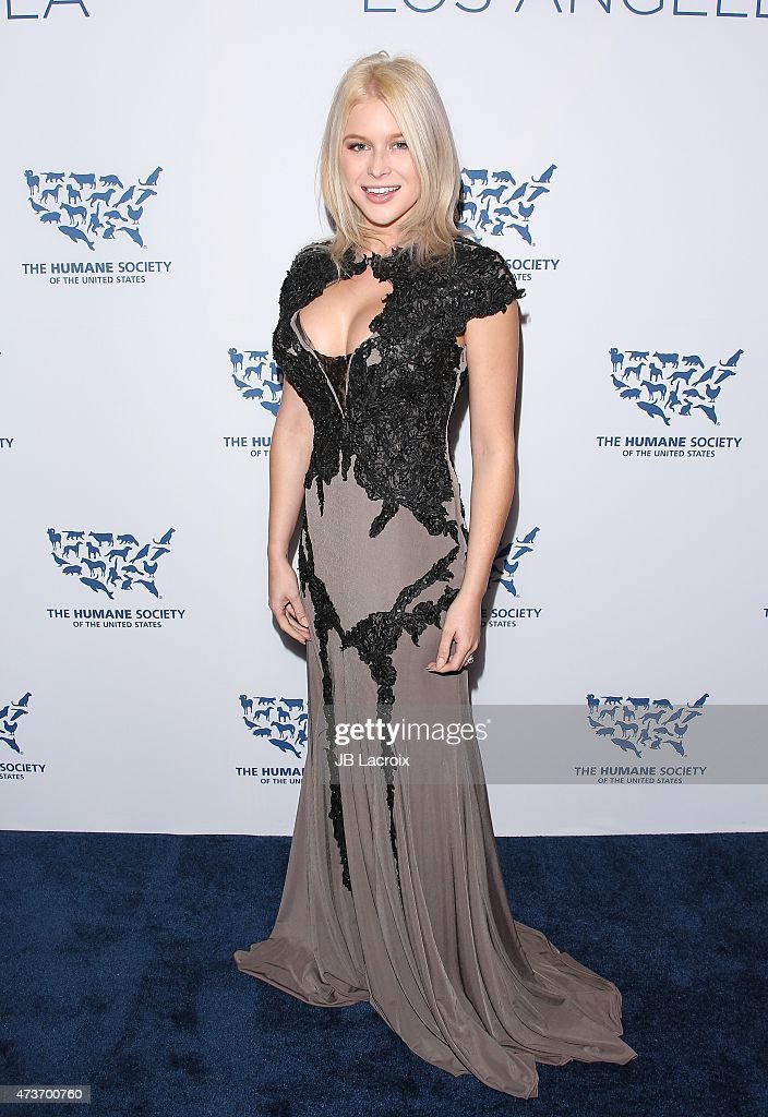 Renee Olstead attends The Humane Society Of The United States' Los Angeles Benefit Gala at the Beverly Wilshire Hotel on May 16 2015 in Beverly Hills...