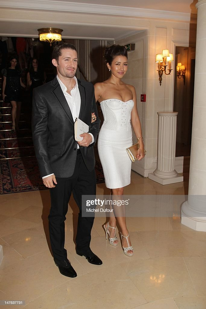 Renee Puente and <a gi-track='captionPersonalityLinkClicked' href=/galleries/search?phrase=Matthew+Morrison&family=editorial&specificpeople=171674 ng-click='$event.stopPropagation()'>Matthew Morrison</a> arrive the Versace Haute-Couture Show as part of Paris Fashion Week Fall / Winter 2012/13 on July 1, 2012 in Paris, France.