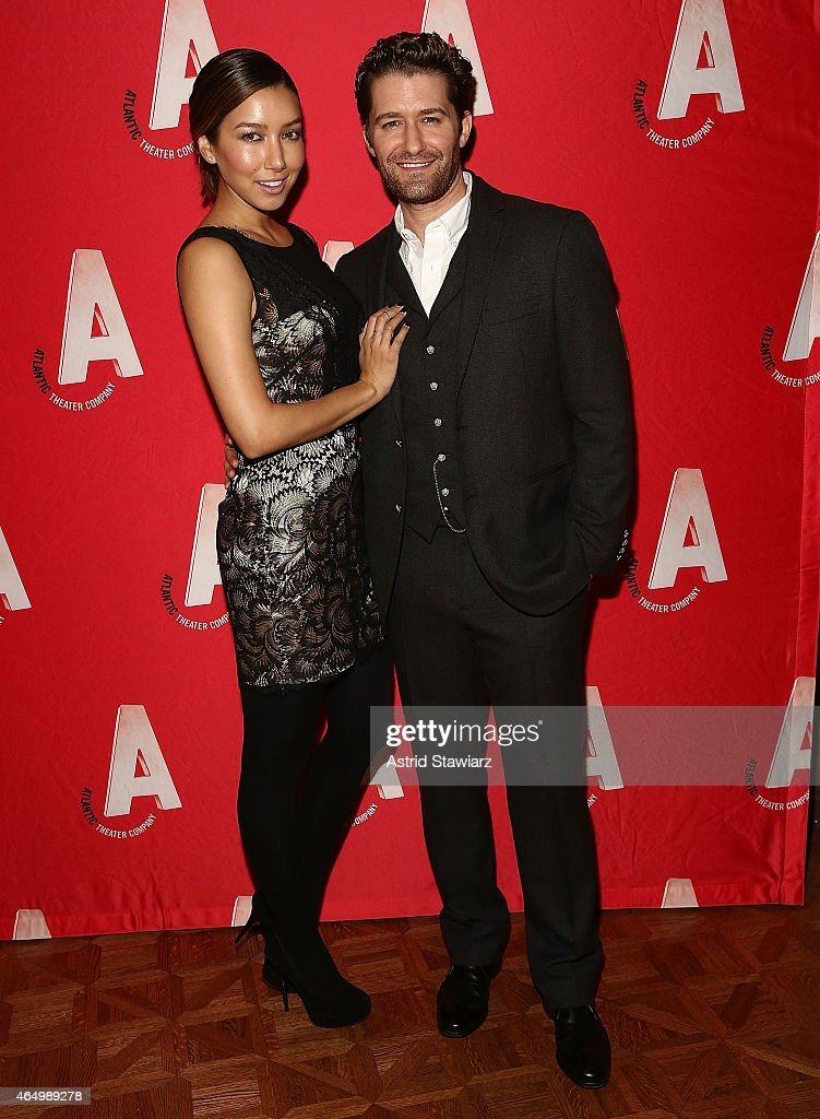 Renee Puente and Matthew Morrison attend Atlantic Theater Company 30th Anniversary Gala at The Pierre Hotel on March 2 2015 in New York City