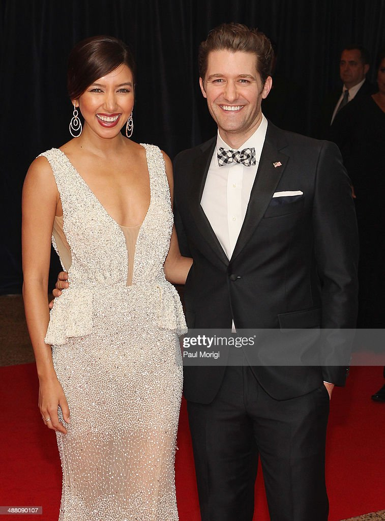 Renee Puente and Matthew Morrison attend the 100th Annual White House Correspondents' Association Dinner at the Washington Hilton on May 3 2014 in...