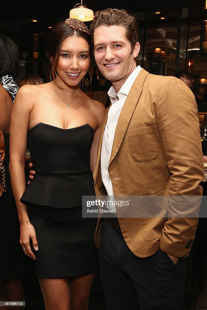 Renee Puente and Matthew Morrison attend the Dom Perignon and Eric Podwall host of the evening before The White House Correspondents' Dinner at Fiola...