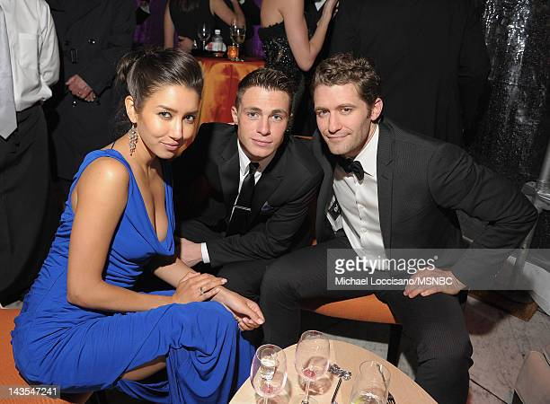 Renee Puente Colton Haynes and Matthew Morrison attend MSNBC After Party event for the White House Correspondents Association Dinner at Italian...