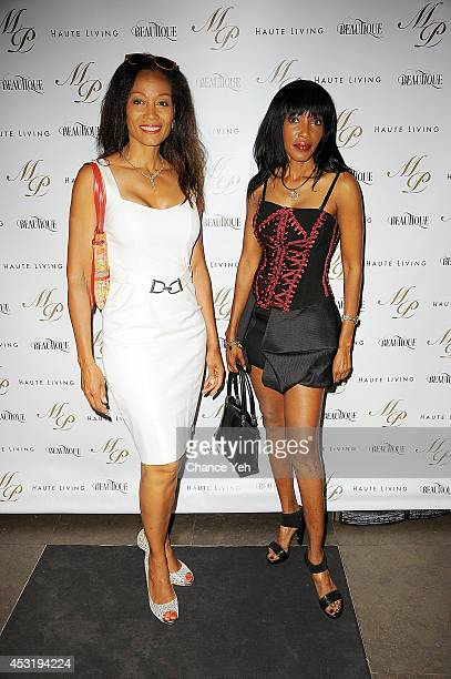 Renee Rice and Shadia Elamin attend Madame Paulette 55th Anniversary and founder John Mahdessian Birthday Party at Beautique on August 4 2014 in New...