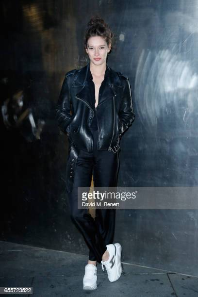 Renee Stewart arrives wearing Hogan trainers to Drake The Boy Meets World Tour at The O2 Arena on March 20 2017 in London England