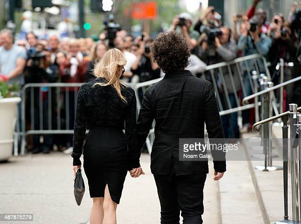 Renee Zellweger and Doyle Bramhall II attend the memorial service for L'Wren Scott at St Bartholomew's Church on May 2 2014 in New York City Fashion...
