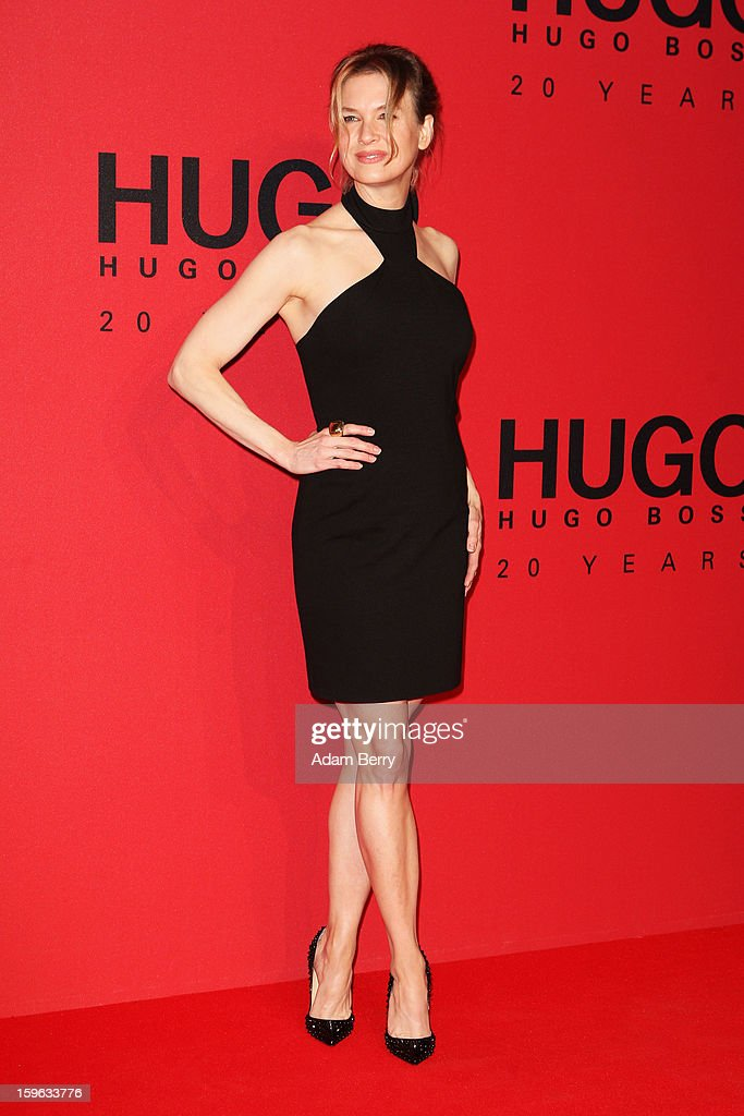 Renee Zellweger attends Hugo By Hugo Boss Autumn/Winter 2013/14 fashion show during Mercedes-Benz Fashion Week Berlin at The Brandenburg Gate on January 17, 2013 in Berlin, Germany.