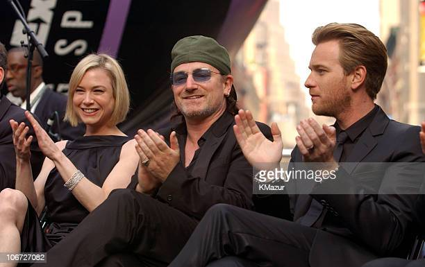 Renee Zellweger Bono and Ewan McGregor during 2003 Tribeca Film Festival Ceremony of Remembrance and Commemoration at Tribeca Film Festival at...