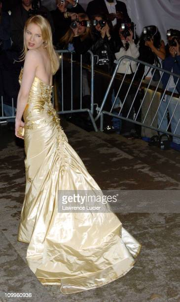 Renee Zellweger during 2004 Costume Institute Gala Dangerous Liaisons Arrivals at Metropolitan Museum of Art in New York City New York United States