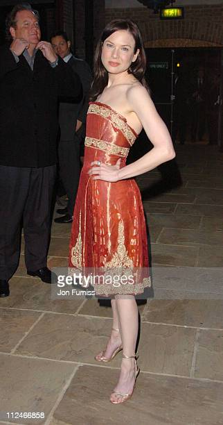 Renee Zellweger during 'Bridget Jones The Edge of Reason' London Premiere After Party at Tobacco Dock in London Great Britain