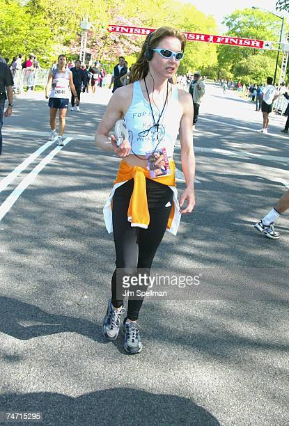Renee Zellweger right after her 22minute run at the Time Square East Meadow of Central Park in New York City New York