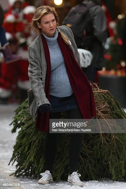 Renee Zellweger seen on set of Bridget Jones' Baby at Borough Market on October 13 2015 in London England