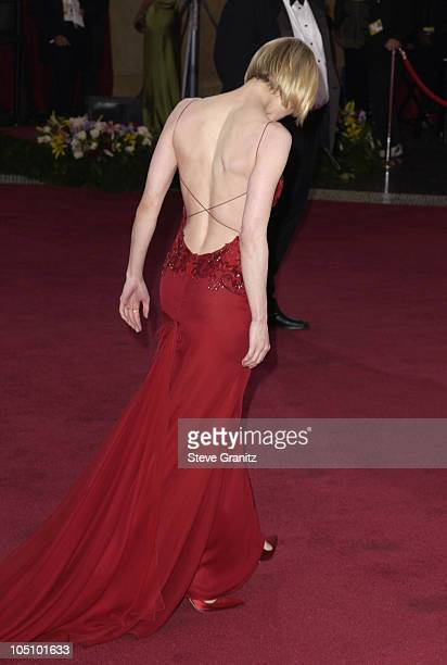 Renee Zellweger wearing Carolina Herrera during The 75th Annual Academy Awards Arrivals at The Kodak Theater in Hollywood California United States