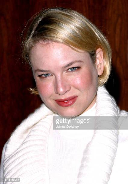 Renee Zellweger wearing Jil Sander during Anna Wintour and Harvey Weinstein Cohost Screening of 'Chicago' at Tribeca Grand Hotel in New York City New...