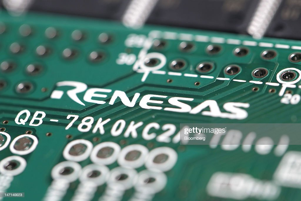 A Renesas Electronics Corp. central processing unit (CPU) board is arranged for a photograph in Soka City, Saitama Prefecture, Japan, on Saturday, June 23, 2012. Renesas said it reached a basic agreement to receive support from its largest shareholders, while the company's major lenders will provide additional funding, as it seeks to recover from losses. Photographer: Kiyoshi Ota/Bloomberg via Getty Images