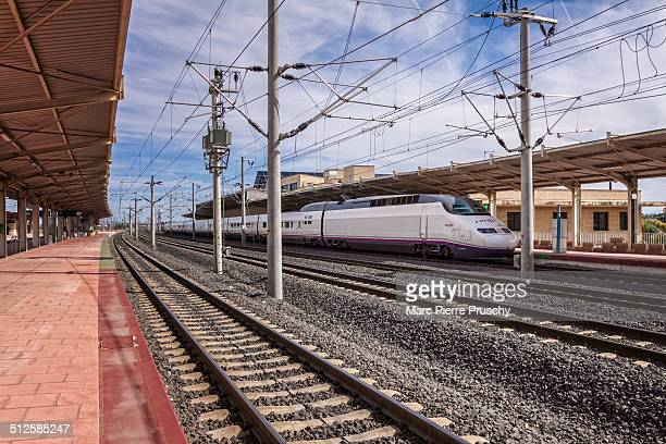 Renfe's highspeed train at the railway station of Ciudad Real