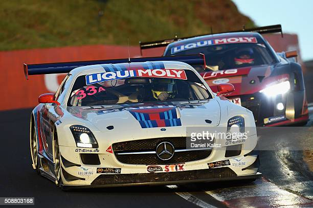 Renger Van der Zande drives the MISHUMOTORS MercedesBenz SLS AMG GT3 during the Bathurst 12 Hour Race at Mount Panorama on February 7 2016 in...