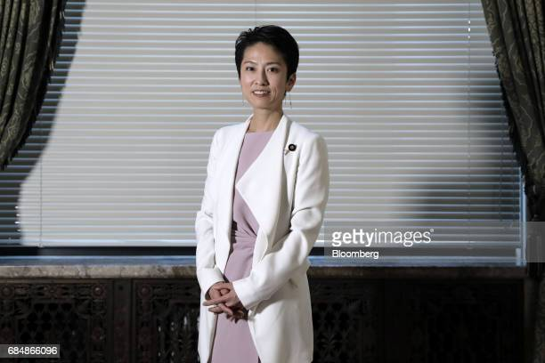 Renho president of the Democratic Party poses for a photograph in Tokyo Japan on Thursday May 18 2017 The most prominent leader of Japans beleaguered...