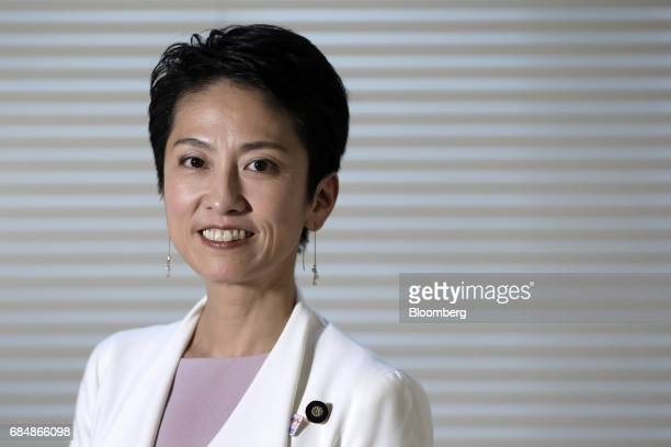 Renho president of the Democratic Party speaks during an interview in Tokyo Japan on Thursday May 18 2017 The most prominent leader of Japans...