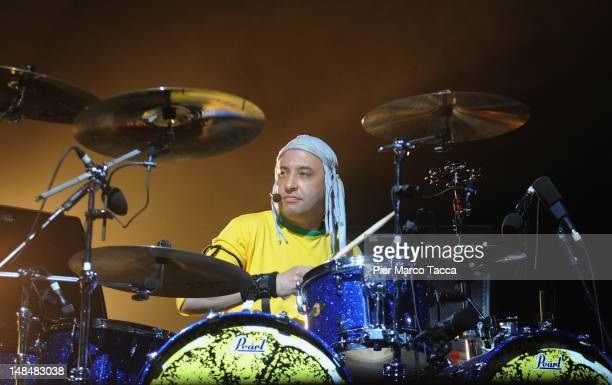 Reni of The Stone Roses performs on stage at Sound Hippodrome on July 17 2012 in Milan Italy
