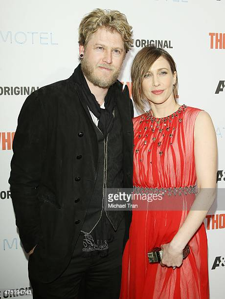 Renn Hawkey and Vera Farmiga arrive at the premiere party for AE's season 2 of 'Bates Motel' and series premiere of 'Those Who Kill' held at Warwick...