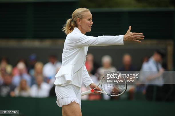 Rennae Stubbs of Australia during the Invitation Doubles tournament during the Wimbledon Lawn Tennis Championships at the All England Lawn Tennis and...