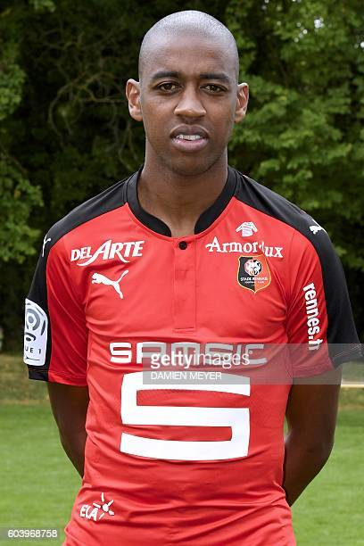 Rennes' Cape Verdean midfielder Gelson Fernandes poses during the shooting of Stade Rennais' football club's official picture in Rennes on September...