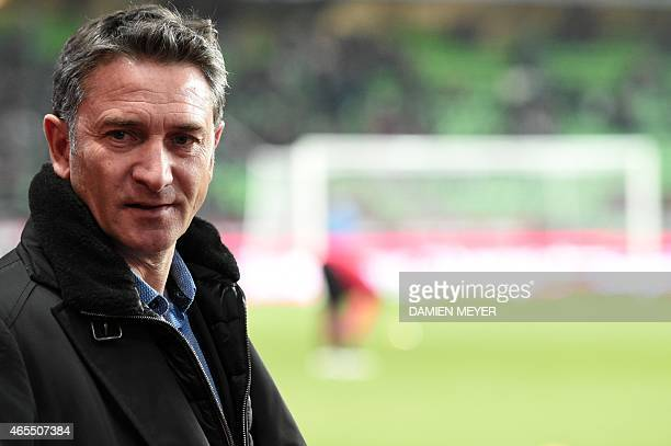 Rennes' French coach Philippe Montanier attends the French L1 football match between Rennes and Metz at the Route de Lorient stadium in Rennes...