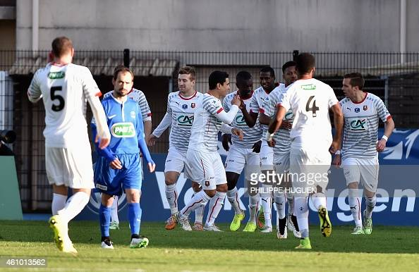 Dunkerque v rennes coupe de france photos and images getty images - Coupe de france dunkerque ...