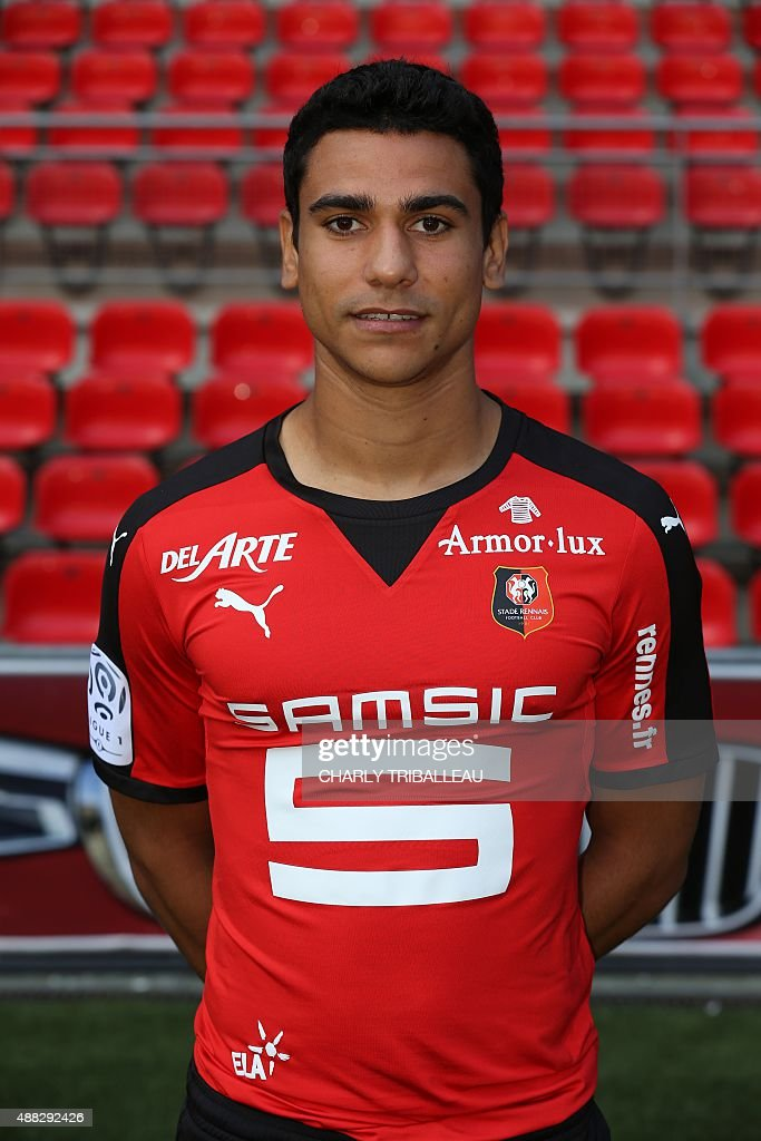 Rennes' French midfielder Benjamin Andre poses during the shooting of the team's official picture on September 15, 2015 at Roazhon Park stadium in Rennes, western France.