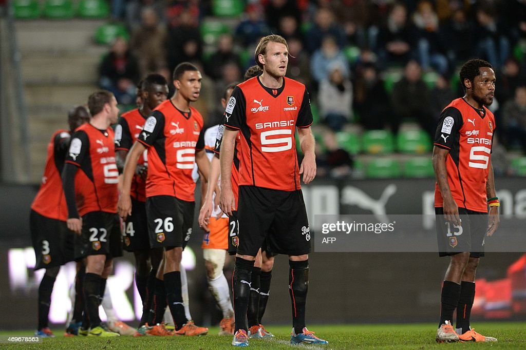 Rennes's Swedish forward Ola Toivonen competes during the French L1 football match between Rennes and Montpellier on February 15, 2014 at the Route de Lorient stadium in Rennes, western France. AFP PHOTO / THOMAS BREGARDIS