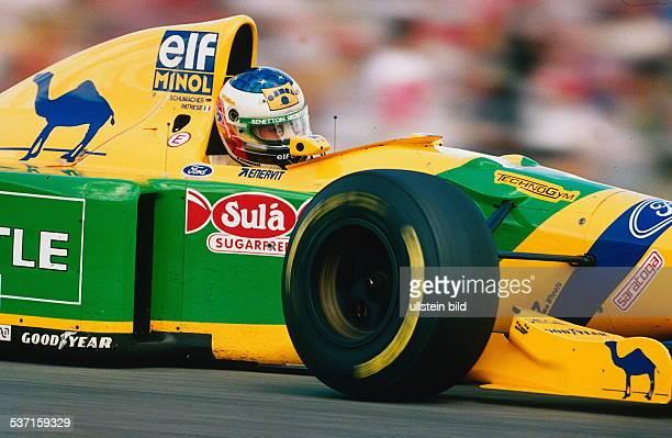 Rennfahrer Formel1 D Grand Prix auf dem Hockenheim Ring Aktion im BenettonFord Juli 1993