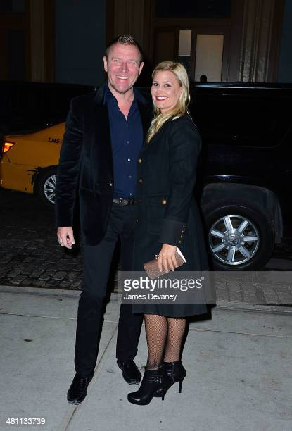 Renny Harlin and Erika Marchino seen on the streets of Manhattan on January 6 2014 in New York City