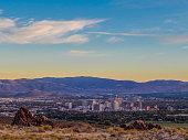 A sunset over Reno, Nevada