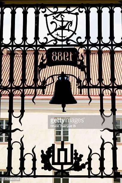 Renovated cast iron gate of Grand Courtyard of Vilnius University.