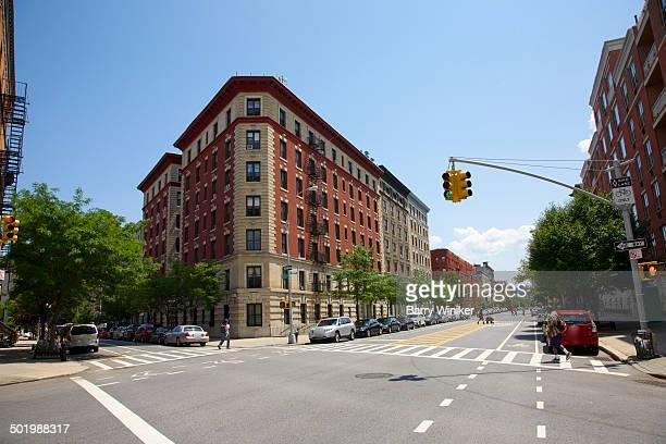 Renovated Harlem building stock on major avenue