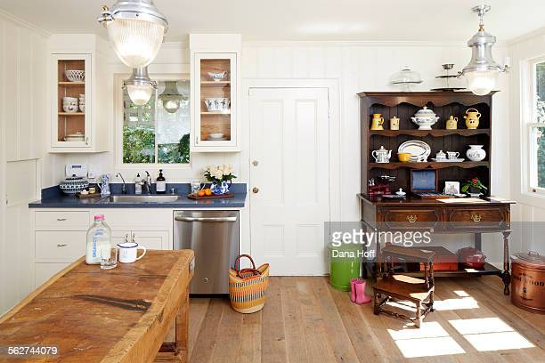 Renovated kitchen in country living home